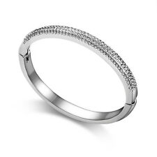 Crystal Curved Pave Bangle in Gift Box