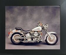 Silver Harley Davidson Motorcycle Wall Decor Contemporary Black Framed Picture