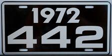 1972 72 OLDSMOBILE 442 LICENSE PLATE OLDS W30 W31 400 455 HURST F85 CUTLASS M21
