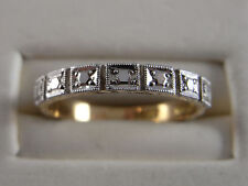Original Old Art Deco 18ct Yellow and White Gold Ring b 57