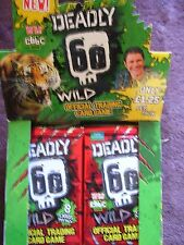 100 X SEALED PACKETS DEADLY 60 WILD SERIES 2 CARDS , GENUINE BARGAIN  NEW PACKS