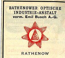 RATHENOWER INDUSTRIE ANSTALT vorm. Emil Busch A.G. Rathenow Trademark 1908