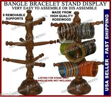 9 Tier BANGLE JEWELRY WATCH BRACELET HOLDER STAND DISPLAY HOLDER ROSEWOOD USA