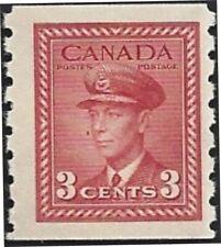 Canada   # 265   KING GEORGE VI COIL ISSUE     New Pristine 1942 Original Gum