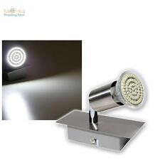 luce LED Acciaio inox,230V 1-bruciatore Lampada parete Faretto da soffitto