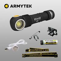 Armytek Wizard Pro Nichia Warm LED Stirnlampe USB aufladbare Taschenlampe + Akku