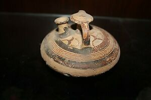 Authentic Ancient Greek Terracotta Clay Syrup Jar, From Mycenaen Site in Greece