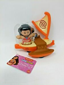 Little People MOANA  Parade Float Fisher Price Moana's Boat Raft - GXW04 NWT