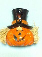 brucia candelina a forma di  zucca  Halloween horror carnevale ceramica