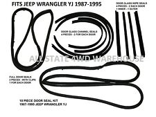 JEEP DOOR WEATHER STRIP SEALS 12 PC BOTH DOORS 1982-95 CJ7 YJ MOVING VENT STYLE