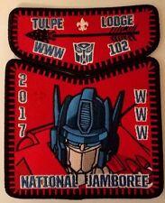Tulpe Lodge 102 Transformers 2017 Boy Scout Jamboree Set WWW Order of the Arrow