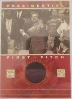 Richard Nixon 2002 Topps Presidential First Pitch Riverfront Stadium Seat !!!