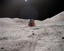 Apollo 17 Mond Modul & Rover Schient Mond 11x14 Silber Halogen Fotodruck