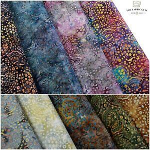 "Bali Indonesian Batik, Oyster Spots Swirls , 9 Colours 100% Premium Cotton, 44"""