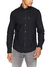 Schwarz Xx-large ben Sherman LS Core Oxford Camicia Uomo (true Black 280) XXL