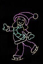Skating Girl LED metal wire frame light yard lawn display