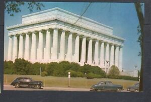 P122 Chrome Postcard 3x5  Lincoln Memorial  Washington DC