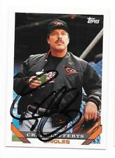 CRAIG LEFFERTS 1993 TOPPS AUTOGRAPHED SIGNED # 617 ORIOLES