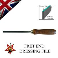 Fret End Dressing File - Guitar Bass Luthier - Custom Ground File with Handle