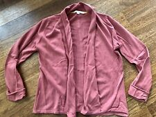 New Boden Size 10 Coral Pink Drape Front Cardigan Cotton cashmere blend sweater