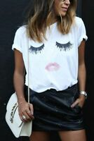 BLACKMYTH Women Summer Funny Print Short Sleeve Top Tee Graphic Cute Tee Shirt