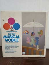 VINTAGE 1986 DOLLY BABY BEARS UMBRELLA MOBILE CRIB IN BOX not complete