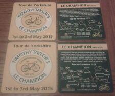 Timothy Taylor Tour De Yorkshire France Champion Beer Mats x4 Real Ale
