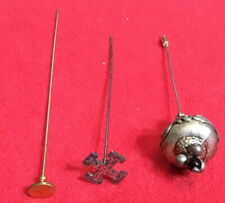 vintage hat pins lot 3 pieces One With Hallmarks