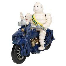Michelin Man On Motorbike & Sidecar Cast Iron Statue Mascot Figure Bike Figure