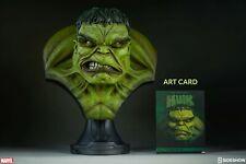 sideshow hulk bust green busto life size