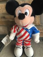 "Walt Disney World Mickey Mouse 12"" USA Mickey with Tags"