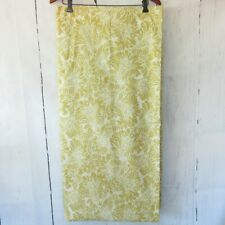 Pottery Barn Shower Curtain Yellow Gold Floral Paisley Fabric