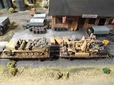 HO Roco Minitanks Artitec 6th Panzer Artillery Railway Cars Hand Painted #A843