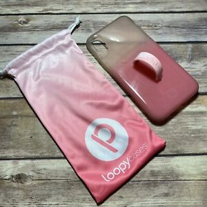 LOOPY CASE IPhone X XS PINK CLEAR OMBRÉ  Phone Case Loop Protector Gorgeous