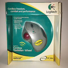Logitech Cordless Optical Trackman Wheel Mouse 904346-0403 New in Open Box