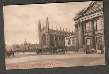 1911 Cambridge King's College Chapel & Parade post card to Miss Johnson Paris