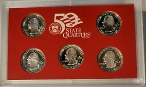 1999 silver proof quarter set (in lens) 90% SILVER 1ST YEAR