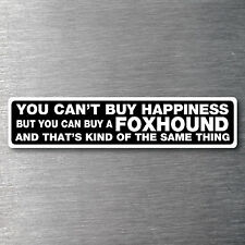 Buy a Foxhound sticker quality 7 year water & fade proof vinyl pup dog breed