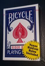 Bicycle Rider Back Poker 808 Single Deck Playing Cards Texas Hold'em Rules blue