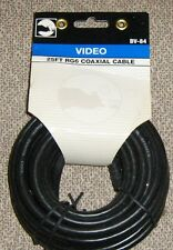 Black Point BV-84 Video 25-FT RG6 Coax Cable with Fittings, Black New