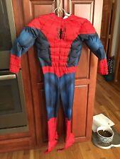 Halloween Costume Boys Spiderman Medium 4 pieces