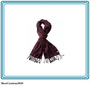 NWT Columbia WINTERTIDE SCARF Purple Dahlia Plaid Viscose Unisex