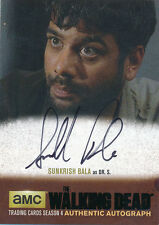 Walking Dead Season 4 Part 1 Sunkrish Bala Dr. S. SB1 Black Autograph Auto B