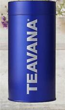 Teavana 8oz Blue Empty Storage Tin Container With Airtight Insert