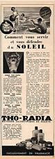 ▬► Publicité Advertising AD Crème Solaire THO-RADIA de 1937
