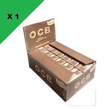 OCB Slim Rolls Unbleached non-blanchi lot de 24 Rouleaux papier naturel virgin
