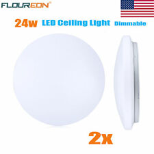2x LED Ceiling Light 2880LMs Flush Mount Fixture Lamp Wall Dimmable Lighting 24W