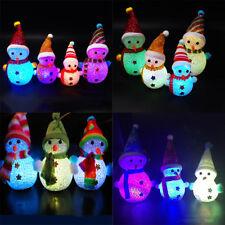 Noël Bonhomme Neige Christmas Xmas LED Lampe Table Décoration Lumière Cadeau NF