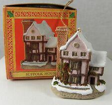 "David Winter Cottage Christmas Ornament Suffolk House 2"" John Hine Studios Nib"