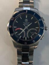 TAG Heuer Mens Aquaracer Calibre S Regatta Chronograph Blue Watch CAF7110